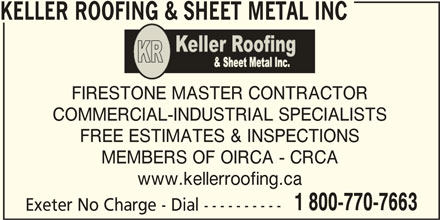 Keller Roofing Amp Sheet Metal Inc Victoria Po Box 206