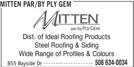 Mitten par/by Ply Gem (506-634-0034) - Annonce illustrée======= -