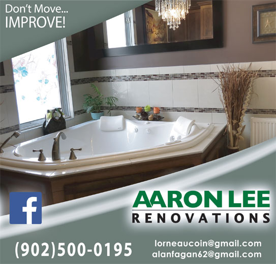 Aaron Lee Renovations (902-562-5395) - Display Ad -