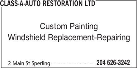 Class-A-Auto Restoration Ltd (204-626-3242) - Display Ad -