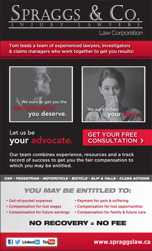 Spraggs & Co Law Corp (604-464-3333) - Display Ad -