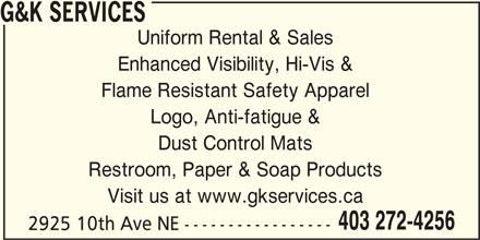 Ads G&K Services