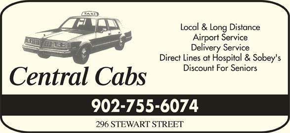 Central Cabs (902-755-6074) - Annonce illustrée======= - 902-755-6074