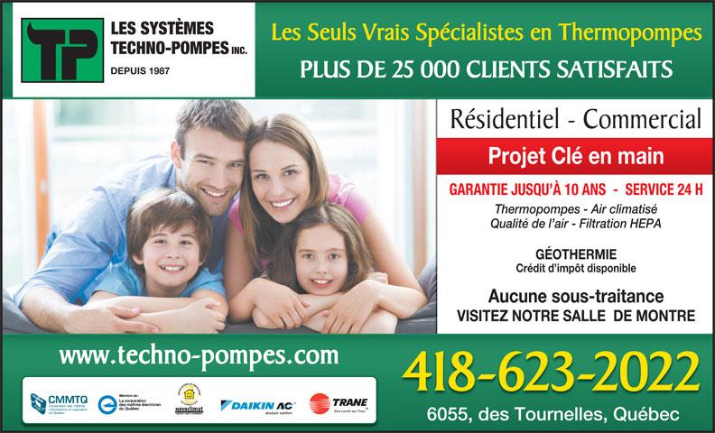Systemes Techno-Pompes Inc (418-623-2022) - Annonce illustrée======= -