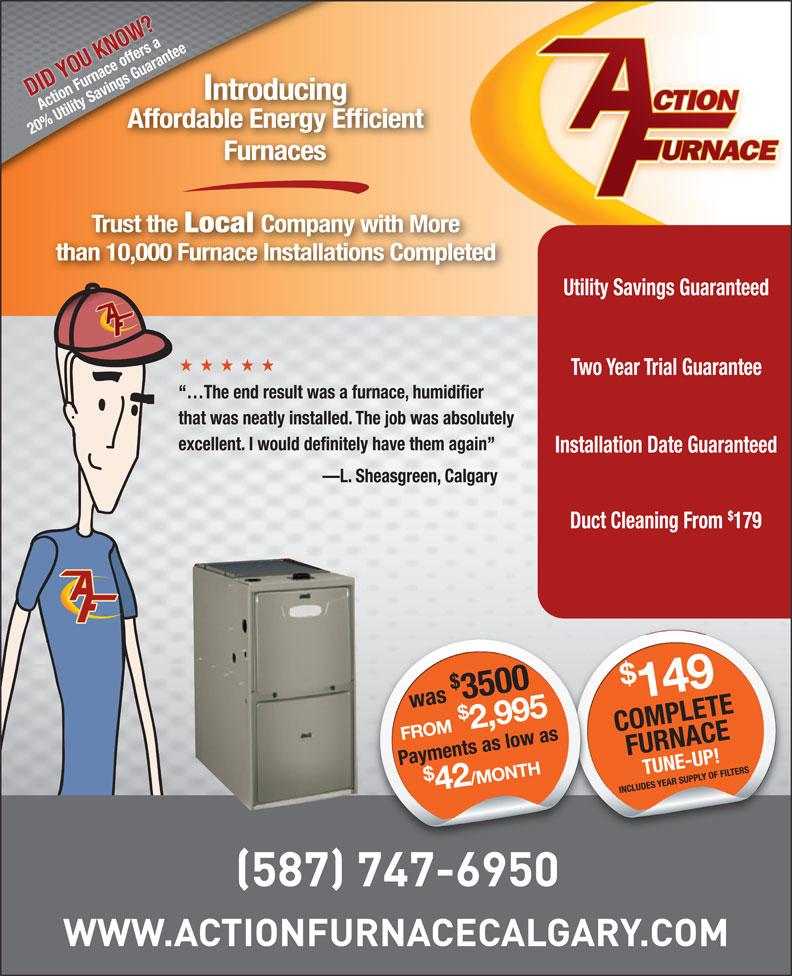 Action Furnace (403-288-4004) - Display Ad -