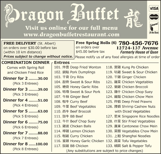 Dragon Buffet (780-456-7676) - Display Ad -
