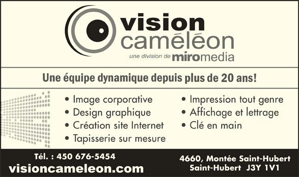 Vision Caméléon (450-676-5454) - Annonce illustrée======= -