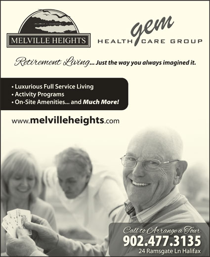 Melville Heights Retirement Residence Halifax NS 24 Ramsgate Lane Canp