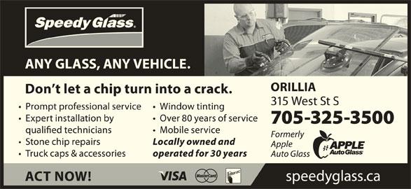 Speedy Glass (705-300-8504) - Display Ad -