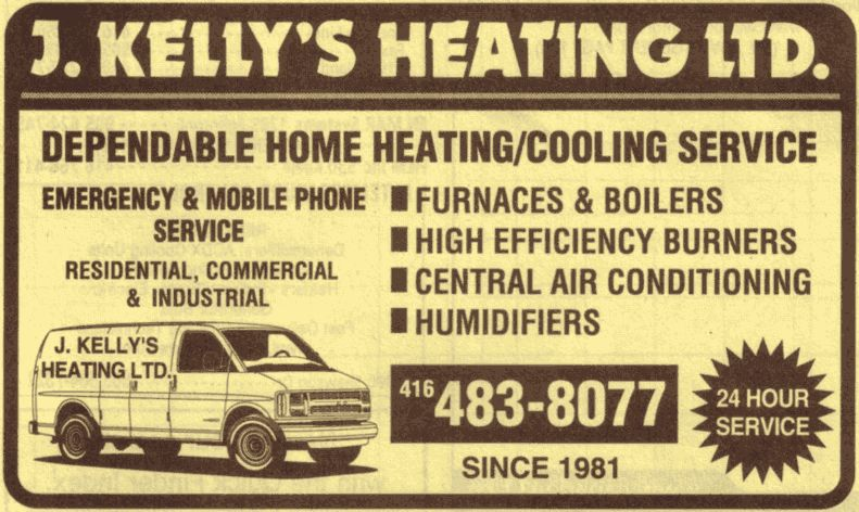 Kelly's Heating (416-483-8077) - Promo