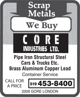 Core Industries Ltd (226-781-9878) - Display Ad