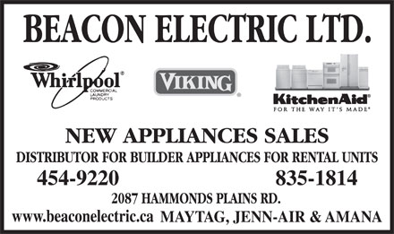 Beacon Electric Ltd (902-454-9220) - Display Ad