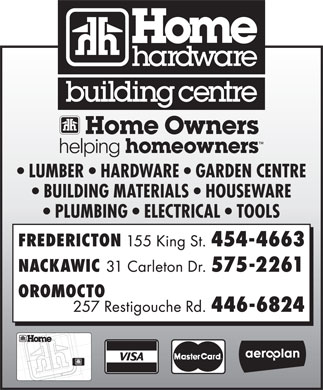 Simms Home Hardware Building Centre (506-454-4663) - Annonce illustrée