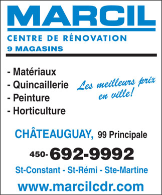Marcil Centre de R&eacute;novation Ch&acirc;teauguay (450-692-9992) - Annonce illustr&eacute;e