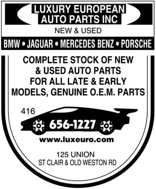 Luxury European Auto Parts Inc (416-656-1227) - Annonce illustrée