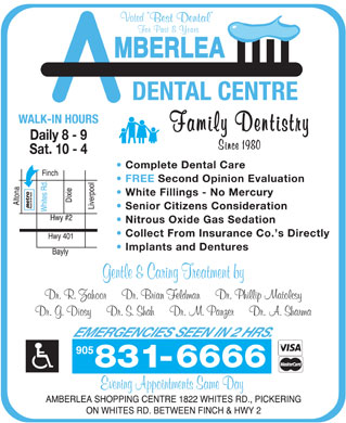 Amberlea Dental Centre (905-831-6666) - Display Ad - 905