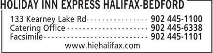 Holiday Inn Express Halifax-Bedford (902-445-1100) - Display Ad