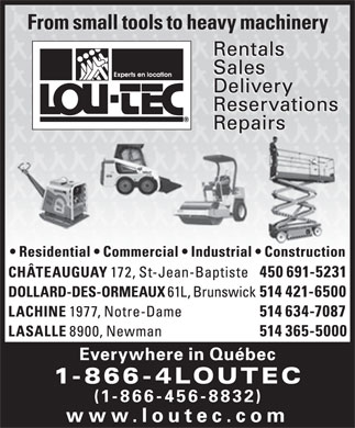 Lou-Tec (1-866-456-8832) - Display Ad