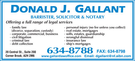 Gallant Donald J (709-634-8788) - Display Ad