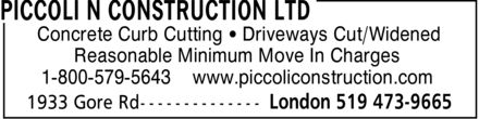 Piccoli N Construction Ltd (519-473-9665) - Display Ad - Concrete Curb Cutting ¿ Driveways Cut/Widened Reasonable Minimum Move In Charges 1-800-579-5643 www.piccoliconstruction.com Concrete Curb Cutting ¿ Driveways Cut/Widened Reasonable Minimum Move In Charges 1-800-579-5643 www.piccoliconstruction.com Concrete Curb Cutting ¿ Driveways Cut/Widened Reasonable Minimum Move In Charges 1-800-579-5643 www.piccoliconstruction.com Concrete Curb Cutting ¿ Driveways Cut/Widened Reasonable Minimum Move In Charges 1-800-579-5643 www.piccoliconstruction.com Concrete Curb Cutting ¿ Driveways Cut/Widened Reasonable Minimum Move In Charges 1-800-579-5643 www.piccoliconstruction.com Concrete Curb Cutting ¿ Driveways Cut/Widened Reasonable Minimum Move In Charges 1-800-579-5643 www.piccoliconstruction.com Concrete Curb Cutting ¿ Driveways Cut/Widened Reasonable Minimum Move In Charges 1-800-579-5643 www.piccoliconstruction.com Concrete Curb Cutting ¿ Driveways Cut/Widened Reasonable Minimum Move In Charges 1-800-579-5643 www.piccoliconstruction.com Concrete Curb Cutting ¿ Driveways Cut/Widened Reasonable Minimum Move In Charges 1-800-579-5643 www.piccoliconstruction.com Concrete Curb Cutting ¿ Driveways Cut/Widened Reasonable Minimum Move In Charges 1-800-579-5643 www.piccoliconstruction.com Concrete Curb Cutting ¿ Driveways Cut/Widened Reasonable Minimum Move In Charges 1-800-579-5643 www.piccoliconstruction.com Concrete Curb Cutting ¿ Driveways Cut/Widened Reasonable Minimum Move In Charges 1-800-579-5643 www.piccoliconstruction.com Concrete Curb Cutting ¿ Driveways Cut/Widened Reasonable Minimum Move In Charges 1-800-579-5643 www.piccoliconstruction.com