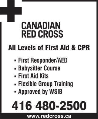 Canadian Red Cross - Ontario (416-480-2500) - Display Ad