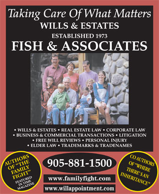 Fish & Associates Professional Corporation (905-881-1500) - Annonce illustrée