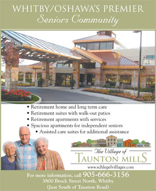 Taunton Mills The Village Of (905-666-3156) - Annonce illustr&eacute;e
