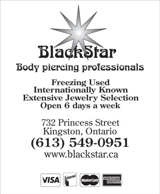 Blackstar Body Piercing (613-549-0951) - Display Ad