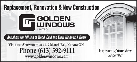Golden Windows (613-592-9111) - Display Ad