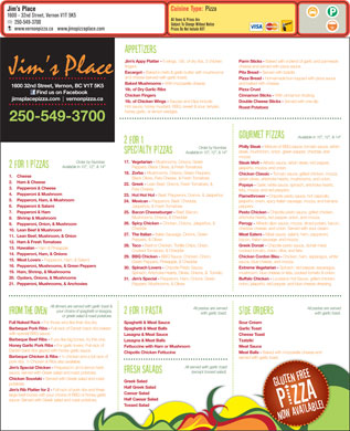 Jim's Place (250-541-1114) - Menu
