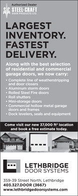 Lethbridge Door Systems Inc (403-327-3667) - Display Ad