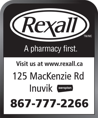 Rexall Pharma Plus (867-777-2266) - Display Ad
