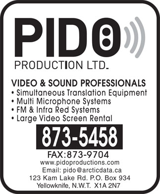 Pido Production Ltd (867-873-5458) - Display Ad
