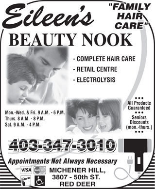 Eileen's Beauty Nook (403-347-3010) - Annonce illustr&eacute;e