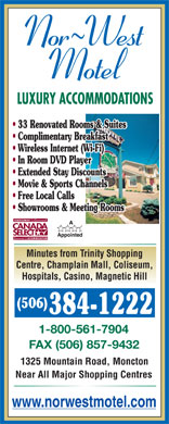 Nor-West Motel (506-384-1222) - Display Ad