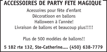 Party F&ecirc;te Magique (450-638-7779) - Annonce illustr&eacute;e