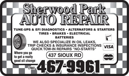 Sherwood Park Auto Repair (780-467-9961) - Display Ad