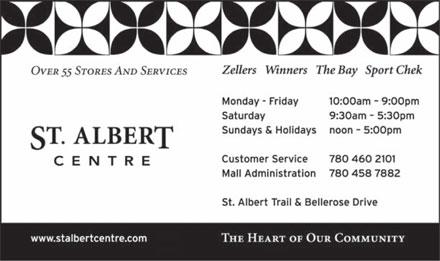 St Albert Centre 375 St Albert Trail St Albert Ab