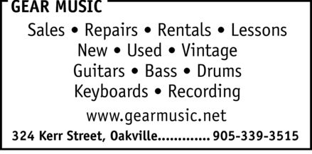 Gear Music (905-339-3515) - Annonce illustr&eacute;e