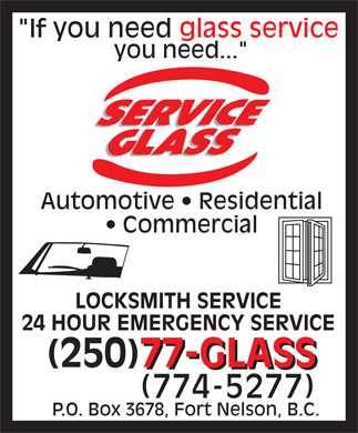 Service Glass Ltd (250-774-5277) - Display Ad