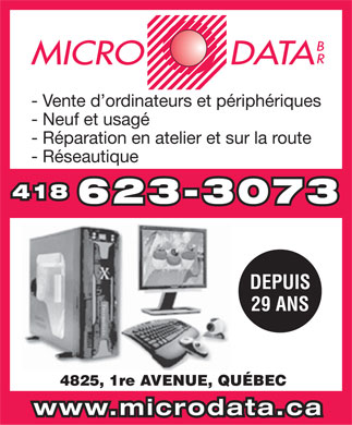 Micro Data Br (418-623-3073) - Display Ad