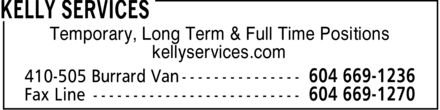 Kelly Services (604-669-1236) - Display Ad