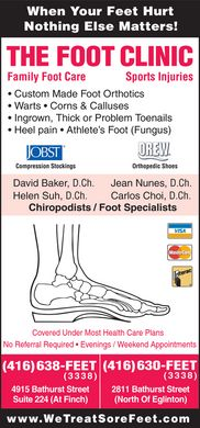 Foot Clinic (647-931-9438) - Display Ad