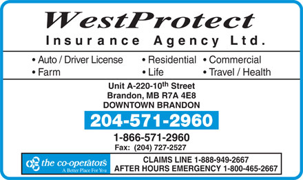 Westprotect Insurance Agency Ltd (1-866-234-0291) - Display Ad