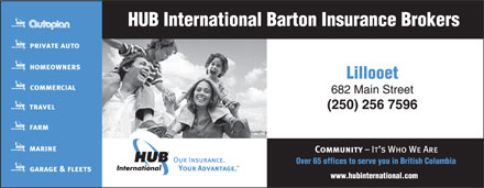 HUB International Barton Insurance Brokers (250-256-7596) - Annonce illustrée