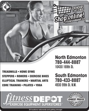 Fitness Depot (780-444-8887) - Annonce illustr&eacute;e