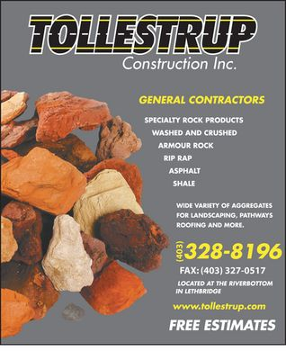 Tollestrup Construction Inc (403-359-5778) - Display Ad - (403