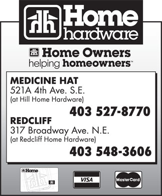 Home Hardware (403-527-8770) - Display Ad