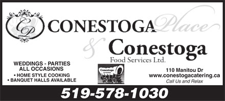 Conestoga Foods Ltd (519-578-1030) - Display Ad