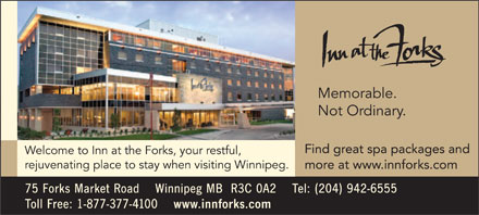 Inn At The Forks (204-942-6555) - Annonce illustrée